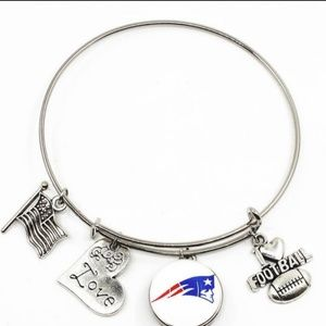 Jewelry - Patriot football snap button charm bracelets
